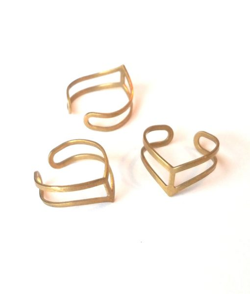 brass-chevron-rings-multi-handmade-jewelry