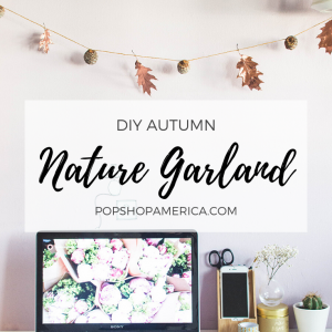 diy autumn nature garland with copper leaves