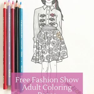 free fashion show coloring pages for adults