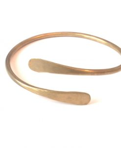 hero-brass-spiral-bracelet-hand-hammered-bangle