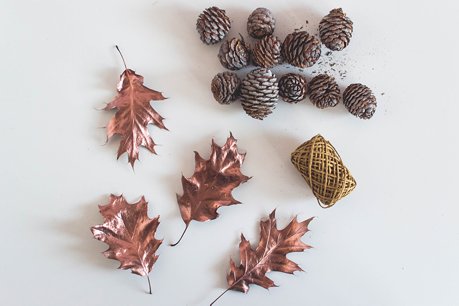 Material for Super Easy Cute Autumn Garland DIY Tutorial