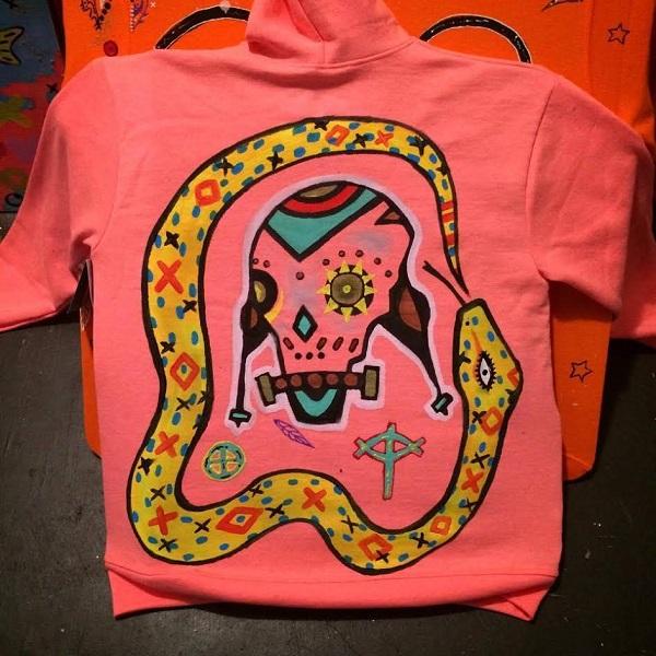 Handpainted sweatshirt 2016