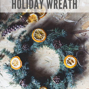 diy pine and orange wreath for christmas pop shop america