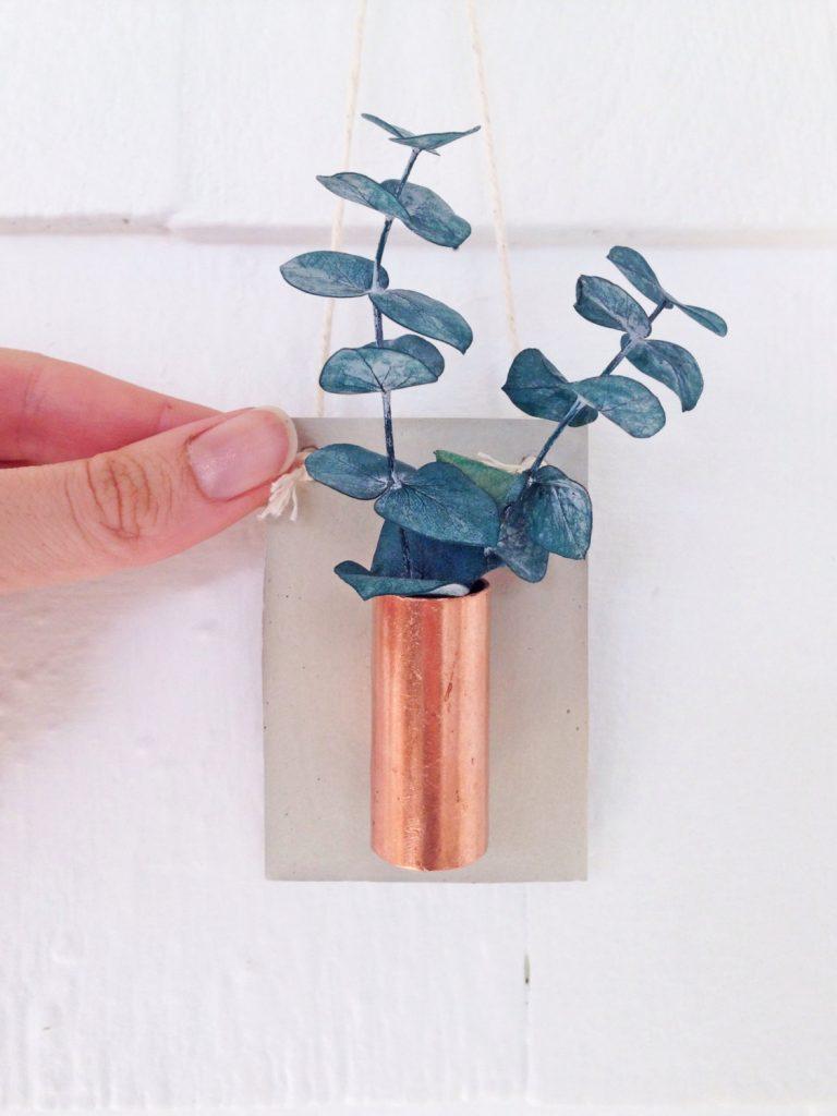 small-concrete-and-copper-planter-wall-hanger