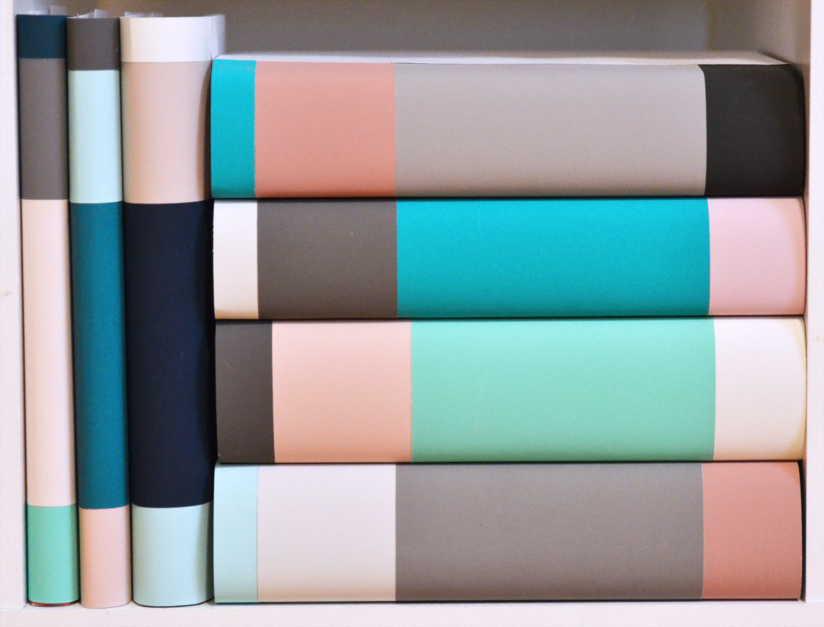 How to Make Color Blocked Book Covers DIY Dust Jacket