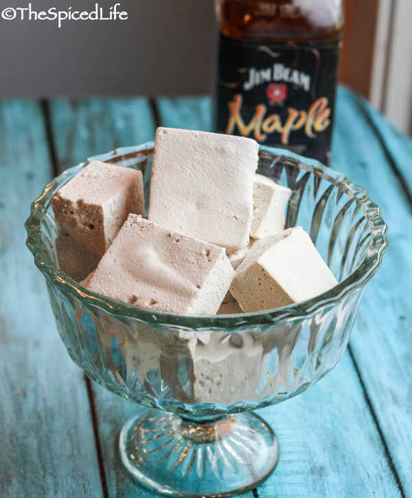Salted-Maple-Bourbon-Marshmallows Marshmallow Recipe Round Up