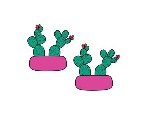 cactus terrarium temporary tattoos pop shop america