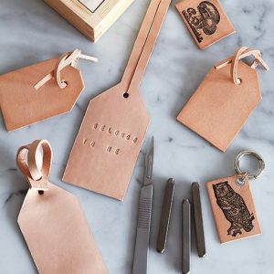 diy leather luggage tags pop shop america
