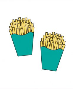french fry temporary tattoos by tattoos and love letters