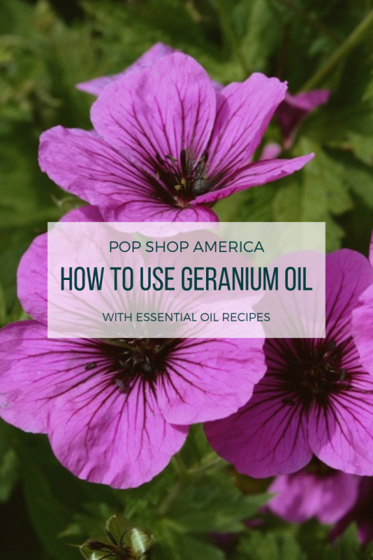 how to use geranium essential oil pop shop america