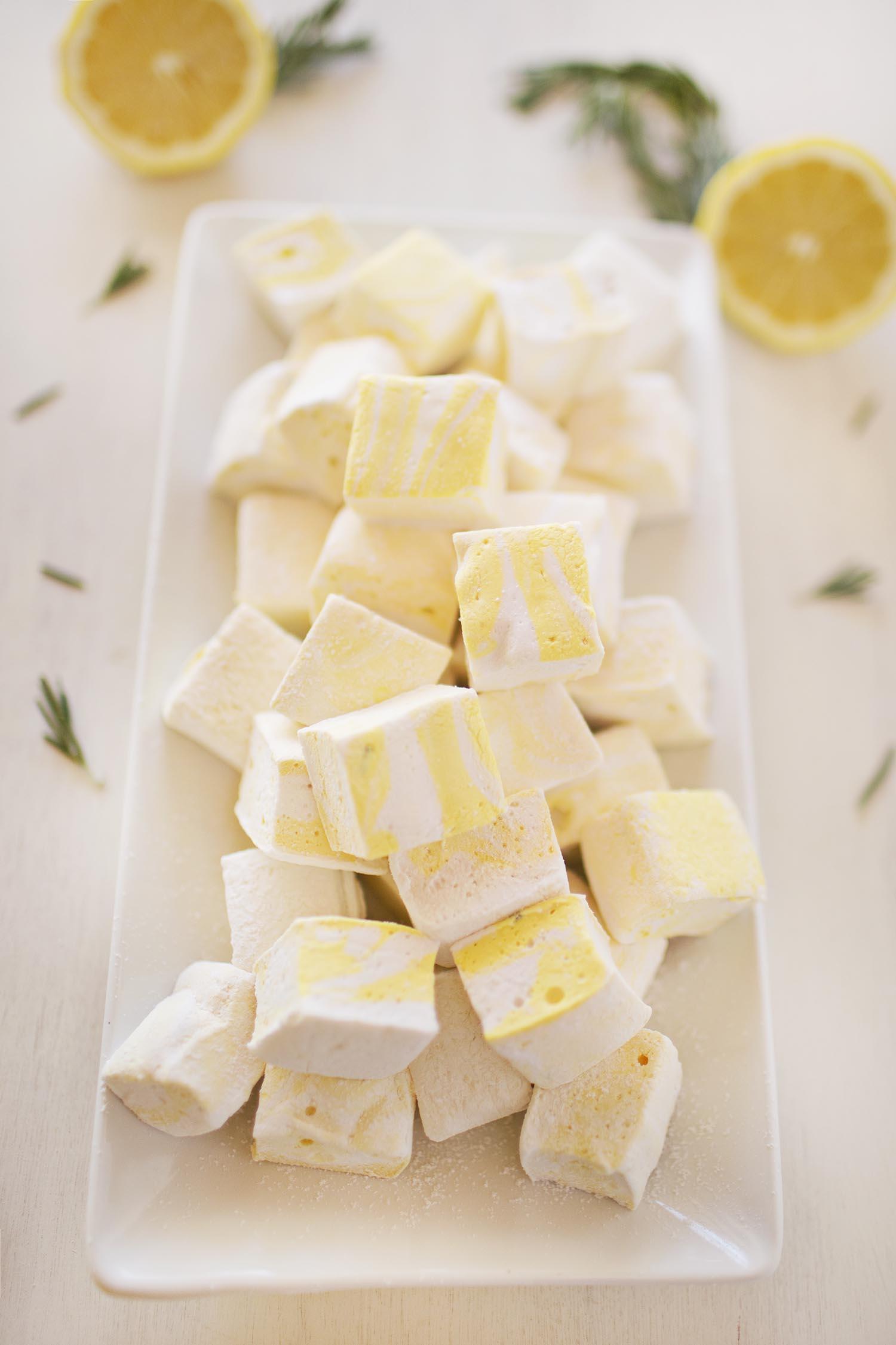lemon and rosemary marshmallow recipe