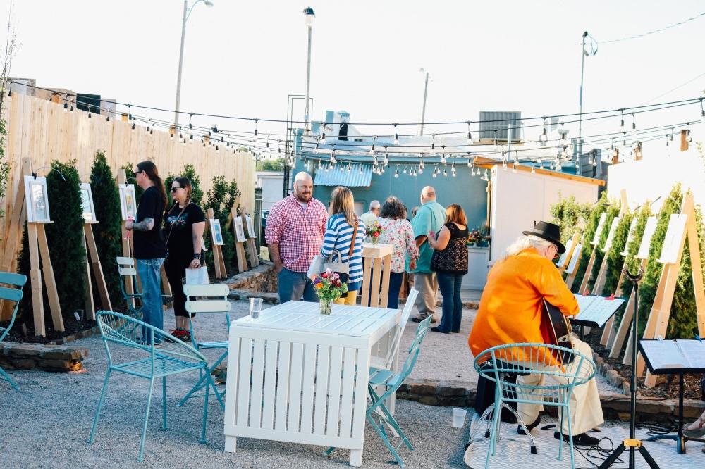 art party at falling into place backyard memphis