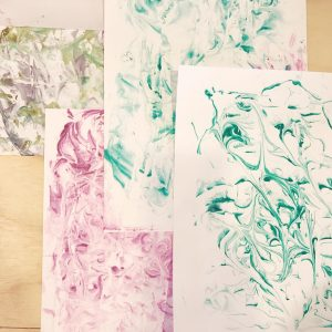 how to marble stationery with shaving cream diy