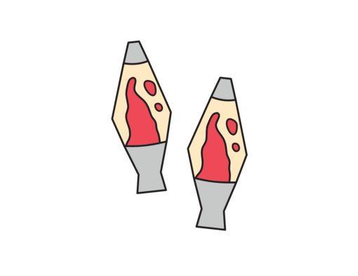 lava lamp handmade temporary tattoos