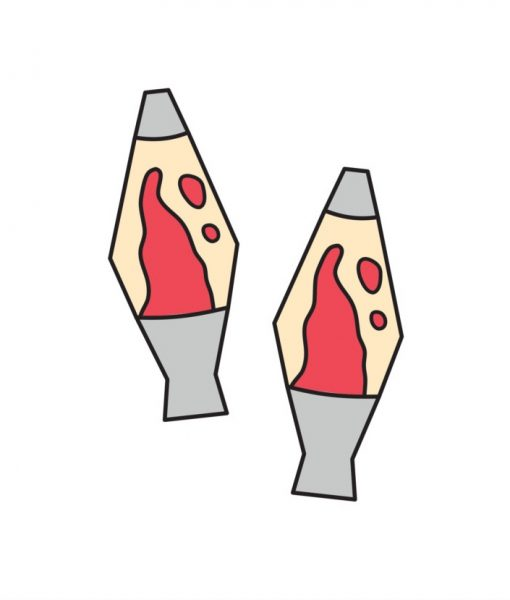lava lamp handmade temporary tattoos