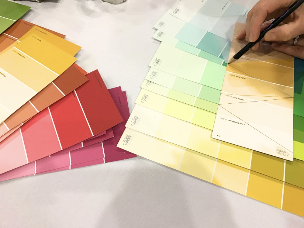 paint samples for easy party bunting diy