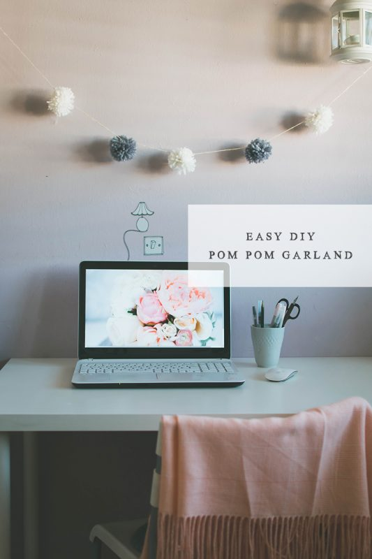 How To Make An Easy DIY Pompom Garland