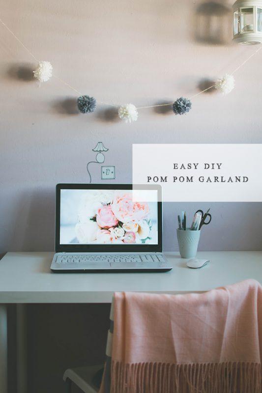 How To Make An Easy DIY Pompom Garland