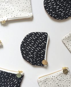 canvas and leather coin purses by zana