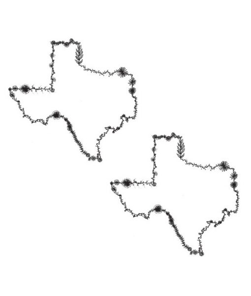 floral texas temporary tattoos