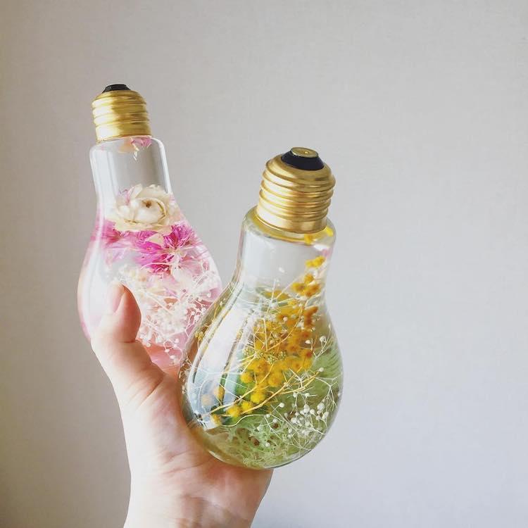 flowerium flower light bulb vase pop shop america