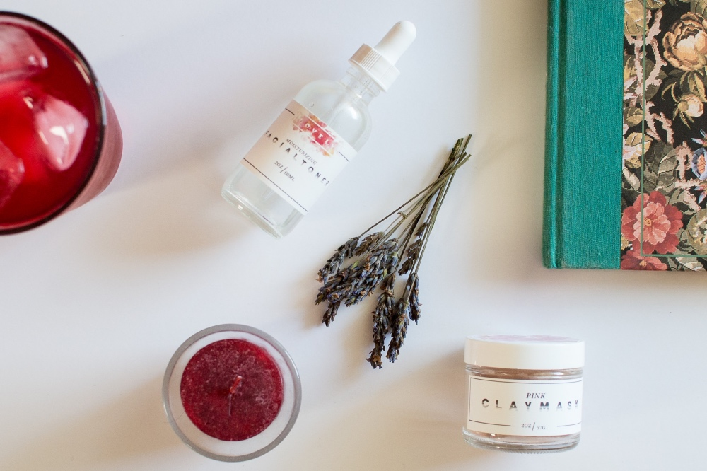 lovely body care facial products still life