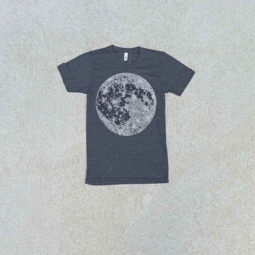 men s black white moon t shirt
