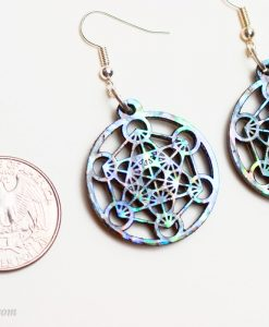 metatron's cube earrings sterling silver