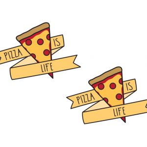 pizza temporary tattoos pop shop america
