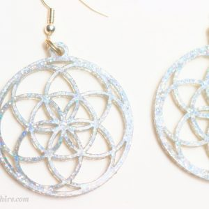 seed of life earrings laser cut earrings