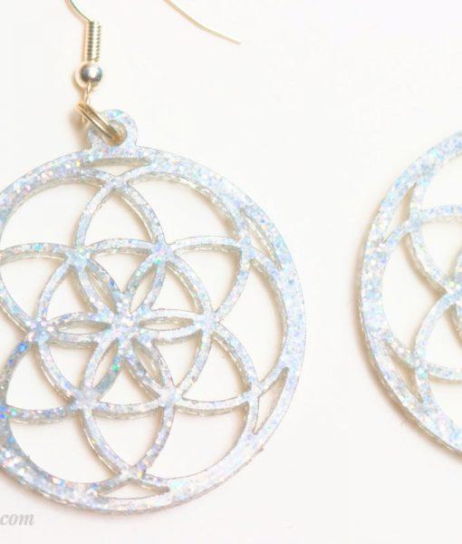 seed of life earrings laser cut earrings