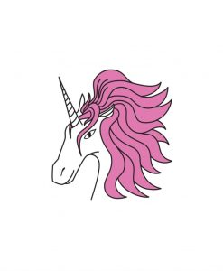 unicorn temporary tattoo pink unicorn tattoo