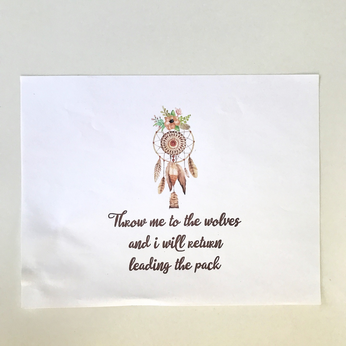 wolves quote dreamcatcher printable pop shop america