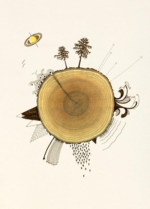 woodland art print by valero doval