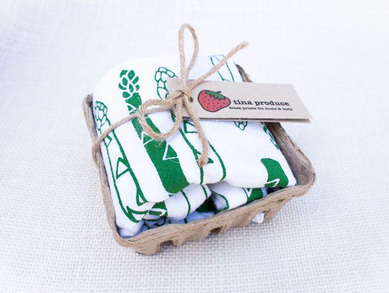 asparagus napkin set pop shop america