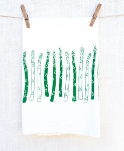 asparagus tea towel handmade home goods