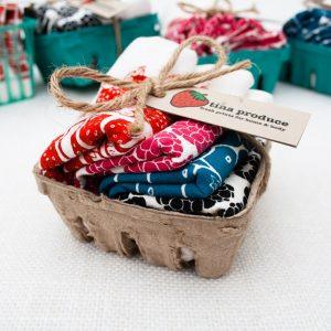 berry napkin sets by tinas produce handmade in california
