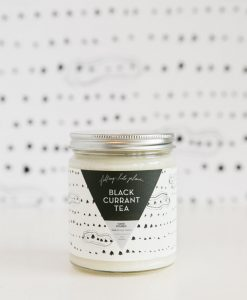 black currant tea hand poured candle falling into place