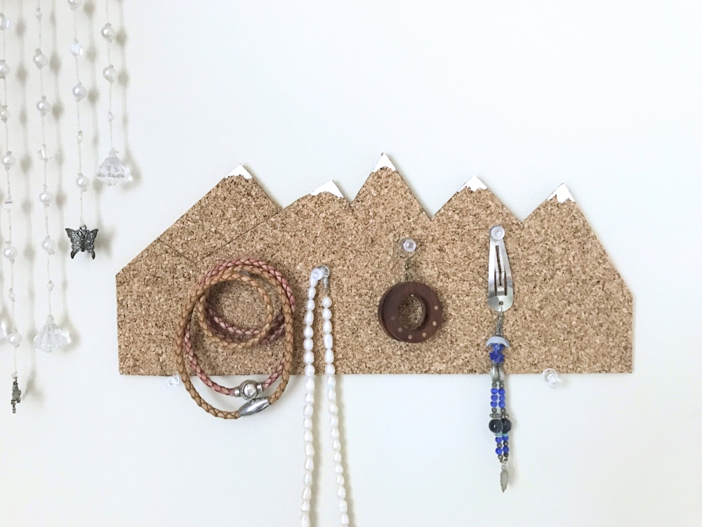 bright snowy mountain cork board diy pop shop america