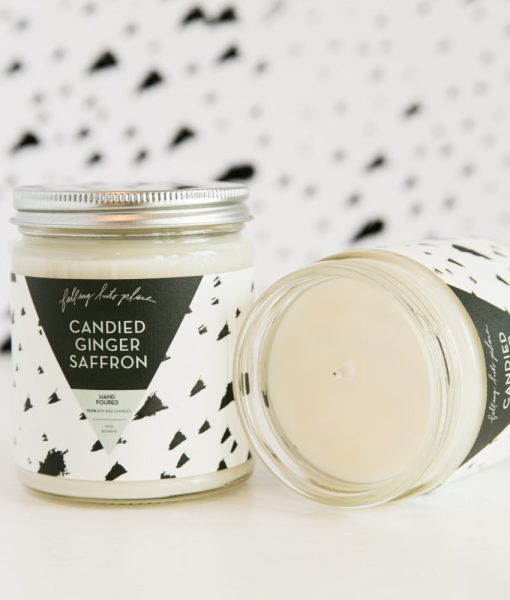 candied ginger saffron candle by falling into place