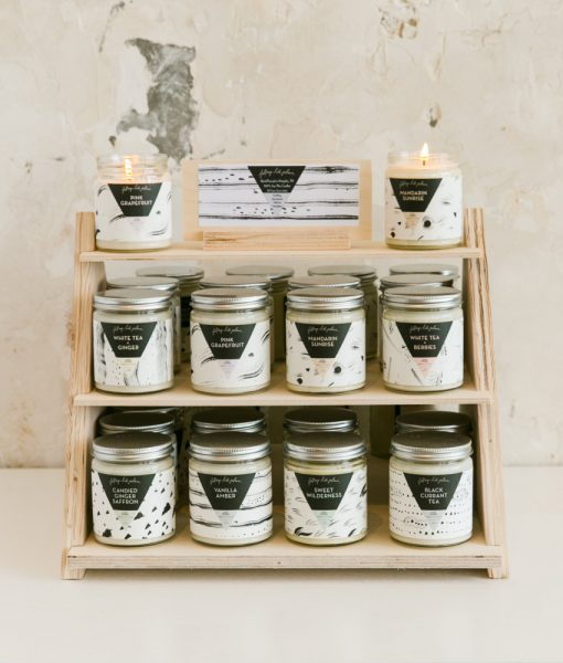candles by falling into place handmade goods