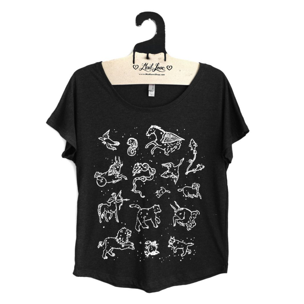 black constellation t shirt by mad