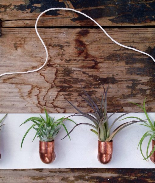 copper and concrete large planter
