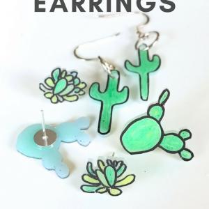 diy cactus earrings pop shop america