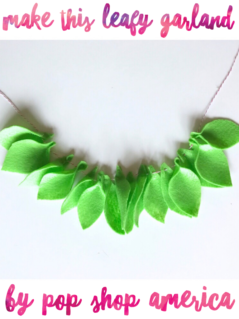 felt leaf garland pin by pop shop america