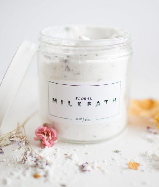 floral milk bath - bath soak by lovely handmade in texas