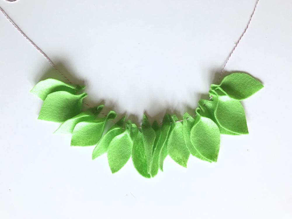 leaf garland diy final pop shop america