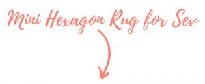 mini hexagon rug graphic pop shop america