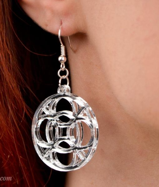 mirrored celtic circle sterling earrings
