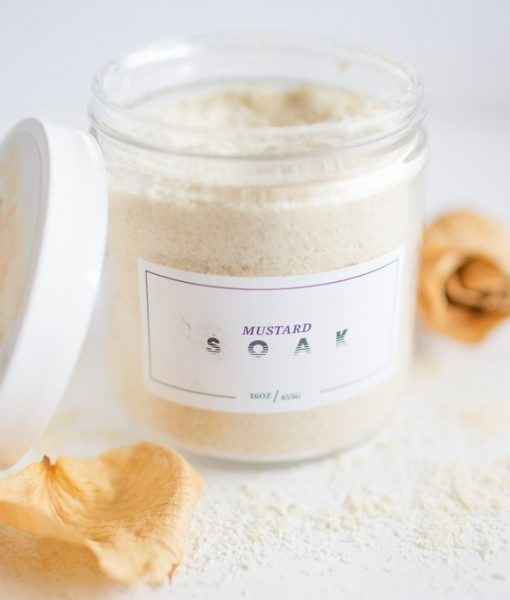 mustard soak - handmade bath soak made in texas